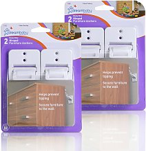 Dreambaby Heavy-Duty Hinged Furniture Straps -