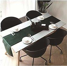 Dreamdge Dark Green Long Table Runner 32x240cm,