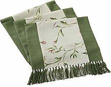Dreamdge Green Linen Table Runner 38x240cm, Cotton