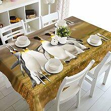 Dreamdge Linen Tablecloth Brown White Gray Cute