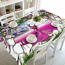 Dreamdge Linen Tablecloth Purple Rose Purple