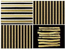 Dreamdge Placemats 4Pcs 42x32cm Black Gold Tone