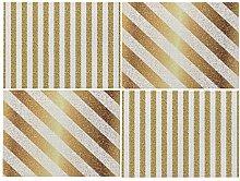 Dreamdge Placemats 4Pcs 42x32cm Gold Tone Stripes,