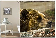 Dreamdge Shower Curtain Animal, Mould Proof