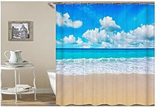 Dreamdge Shower Curtain Beach, Mould Proof