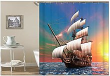 Dreamdge Shower Curtain Sailboat, Mould Proof