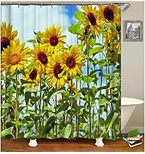 Dreamdge Shower Curtain Sunflower, Mould Proof
