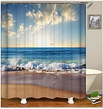 Dreamdge Shower Curtain Waves, Mould Proof