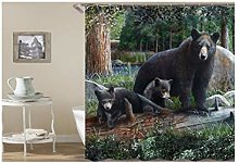 Dreamdge Shower Curtains Baby Bear, Mould Proof