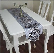 Dreamdge Silver Dining Table Runner 32x120cm,