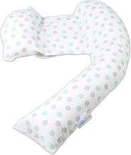 Dreamgenii Pregnancy Pillow - Grey and Aqua