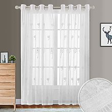 Dreaming Casa 2 Panels Embroidered Sheer Curtain