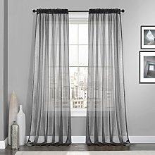 Dreaming Casa Curtains Voile Grey Classical Voile