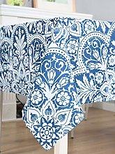Dreaming Casa Vintage Tablecloths Rectangular Blue