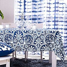 Dreaming Casa Vintage Tablecloths Rectangular Blue