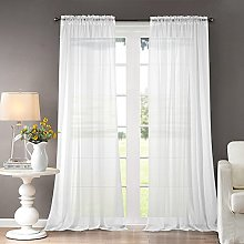 Dreaming Casa White Curtains Voile Bedroom