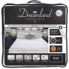 Dreamland Dreamland Boutique Hotel 200Tc Cotton Heated Mattress Protector Db