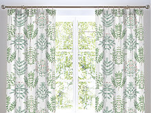 Dreams n Drapes Emily Green Lined Curtains