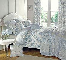 Dreams N Drapes Malton Blue Bedding Set - Kingsize