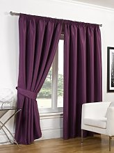Dreamscene Faux Silk Blackout Curtains Including