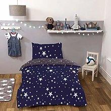 Dreamscene Galaxy Quilt Bedding Set, Navy Blue