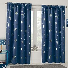 Dreamscene Galaxy Star Thermal Blackout Curtains