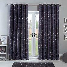 Dreamscene Star Blackout Curtains for Kids Bedroom