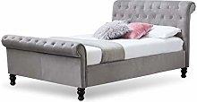 Dreamwarehouse LAMBETH GREY VELVET DOUBLE BED