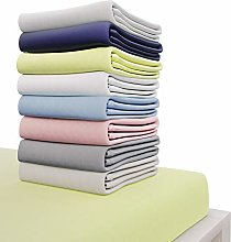 Dreamzie Jersey Cotton Fitted Sheets 140x190 cm,