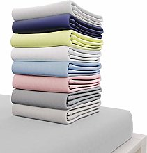 Dreamzie Jersey Cotton Fitted Sheets 140x200 cm,