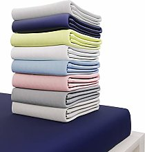Dreamzie Jersey Cotton Fitted Sheets 160x200 cm,