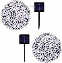 DreiWasser 2 Pack 2X200 LEDs Solar String Lights