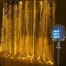 DreiWasser Curtain Lights Solar & Battery Powered,