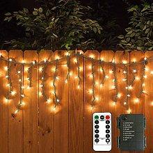 DreiWasser Icicle Lights, 2.3M 102 LEDs Snowing