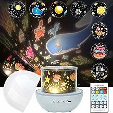 DreiWasser LED Night Light Projector for Kids