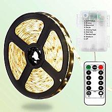 DreiWasser LED Strip Lights, 2M 60 LEDs Battery