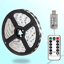 DreiWasser LED Strip Lights 8 Modes USB Powered,