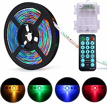 DreiWasser LED Strip Lights Battery Powered, 2M