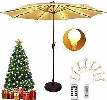 DreiWasser Patio Umbrella Lights Battery Powered