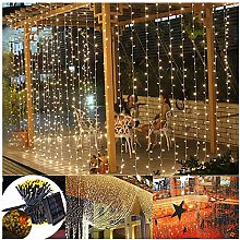 DreiWasser Solar Curtain Lights, 2M X 2M 200 LEDs