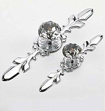 Dreneco 2pcs Crystal Drawer Knobs Cabinet Handles