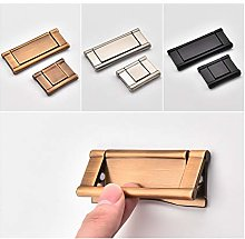 Dreneco 2pcs Pull Flush Cupboard Handles Zinc