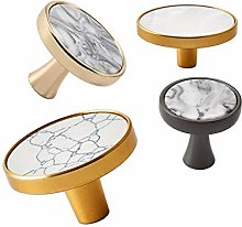 Dreneco 32mm Ceramic Marble Brass Kitchen Cabinet
