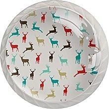 Dresser Drawer Handles Animal Elk Bar Knobs Round