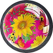 Dresser Drawer Handles Bright Sunflower Bar Knobs