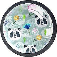 Dresser Drawer Handles Panda Painting Bar Knobs