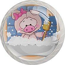 Dresser Drawer Handles Pig Bathtub Bar Knobs Round