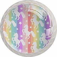 Dresser Knobs Kids Star Rainbow Unicorn 01 Drawer