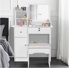 Dressing Table Set and Large-Square Mirror, Modern
