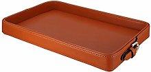 Dressing Table Tray Retro Orange Leather